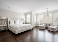 bedroom  hardwood flooring